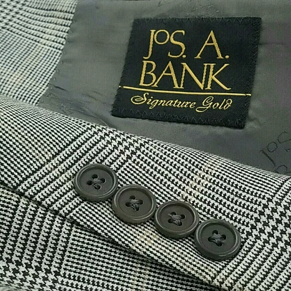 Jos. A. Bank Other - 46R JOS.A.BANK Wool Silk Cashmere Plaid Sport Coat